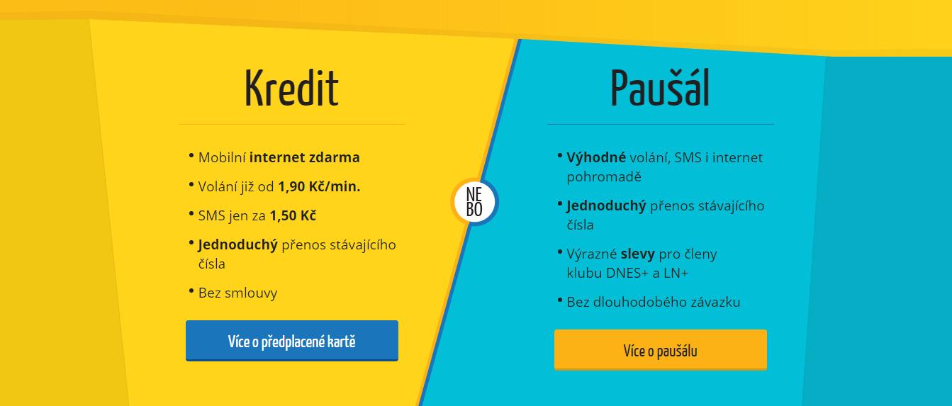 Kredit nebo paušál?